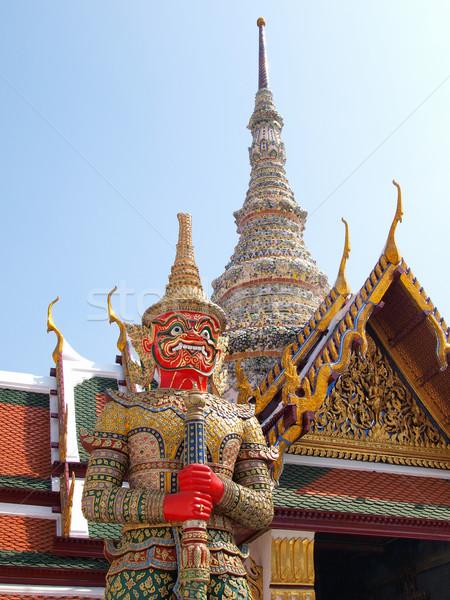 Taylandlı iblis saray Bangkok Tayland seyahat Stok fotoğraf © jakgree_inkliang