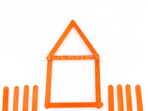 Orange wood construct house Stock photo © jakgree_inkliang