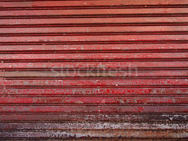 Grunge Metal çit doku plaka endüstriyel Stok fotoğraf © jakgree_inkliang
