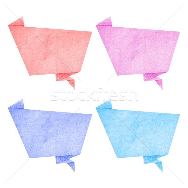 Stock photo: Paper texture ,bubble talk tag on white background
