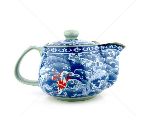 Chinesisch Tee Topf isoliert weiß Wasser Stock foto © jakgree_inkliang
