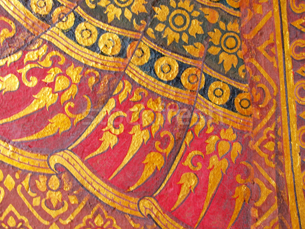 Duvar sanat boyama doku tapınak Tayland Stok fotoğraf © jakgree_inkliang