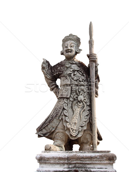 Chinois pierre statue temple Thaïlande art Photo stock © jakgree_inkliang