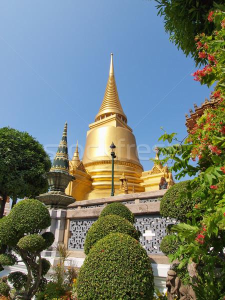 Saray Bangkok Tayland çim Bina yaz Stok fotoğraf © jakgree_inkliang