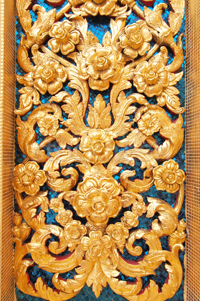 Art Thai style in temple of thailand Stock photo © jakgree_inkliang