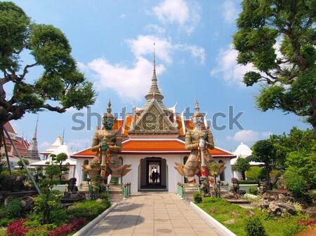 two titan guardians in Wat Arun Temple Stock photo © jakgree_inkliang