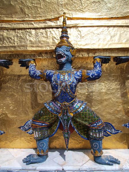 Tajska demon pałac Bangkok Tajlandia podróży Zdjęcia stock © jakgree_inkliang