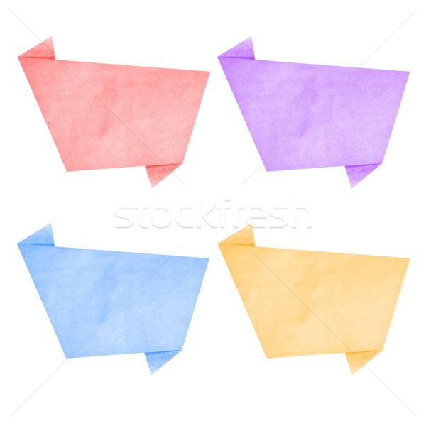 Papierstruktur Blase sprechen Tag weiß Büro Stock foto © jakgree_inkliang