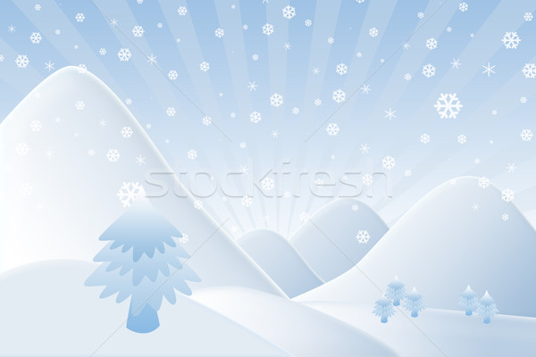 Christmas background,Snow man with mountain Stock photo © jakgree_inkliang