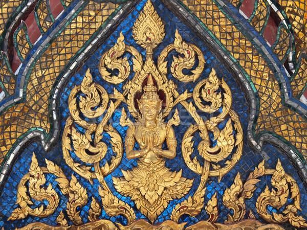 Tajska sztuki stylu ściany świątyni Bangkok Zdjęcia stock © jakgree_inkliang