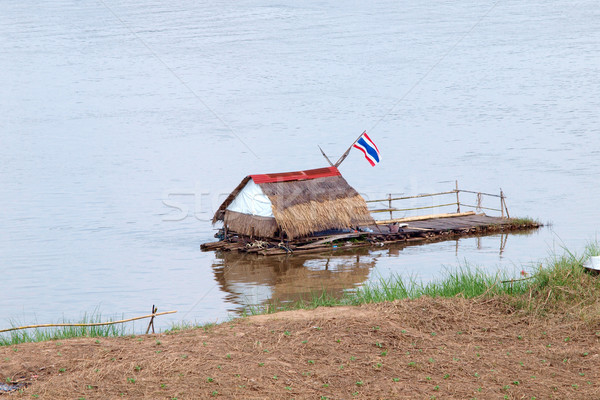 Bamboo raft on the river Stock photo © jakgree_inkliang