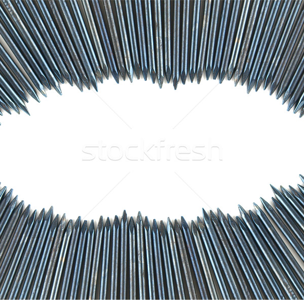 Tırnak beyaz uzay çok ahşap arka plan Stok fotoğraf © jakgree_inkliang