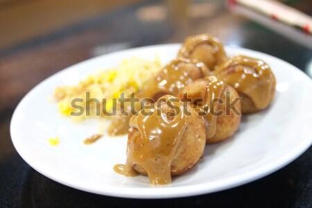 Japan traditionellen Essen Stil rufen Blatt Stock foto © jakgree_inkliang