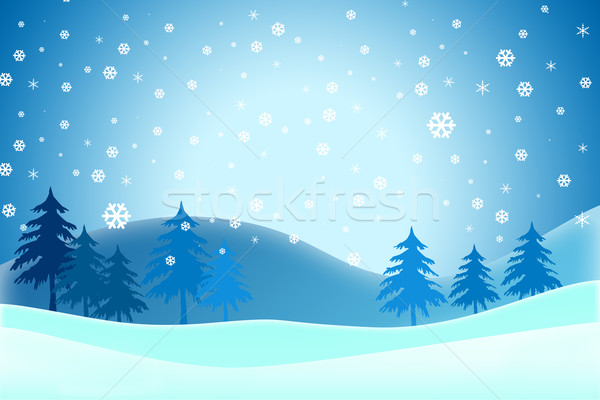 Neşeli Noel kış gökyüzü çocuklar soyut Stok fotoğraf © jakgree_inkliang