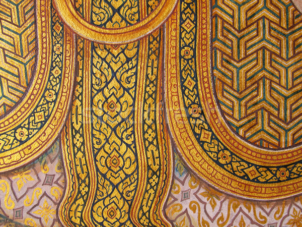 Wall art painting and texture in temple Thailand. painting about Stock photo © jakgree_inkliang