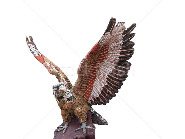 Sculpture aigle blanche art signe Photo stock © jakgree_inkliang