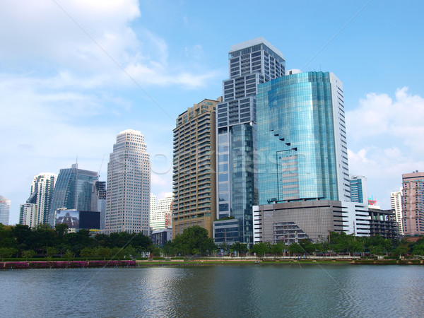 Business Gebäude Bangkok Thailand Wasser Gebäude Stock foto © jakgree_inkliang