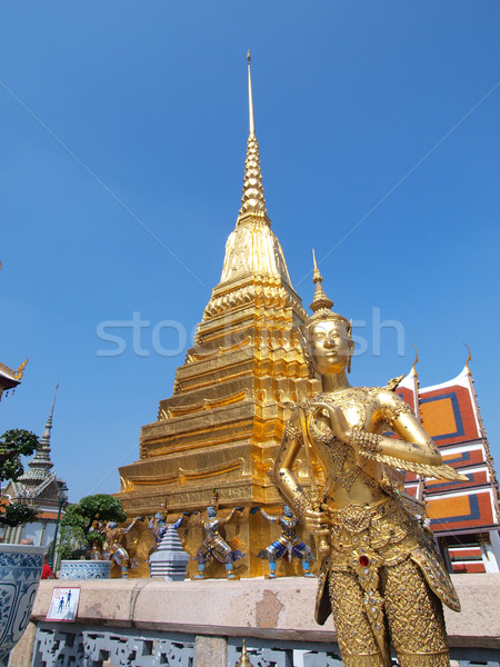 Kinnari statue att he Temple of the Emerald Buddha  , Bangkok, T Stock photo © jakgree_inkliang