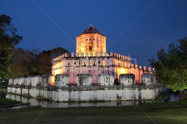Ancient Thai fortress near Chao Phraya river in Bangkok. Stock photo © jakgree_inkliang