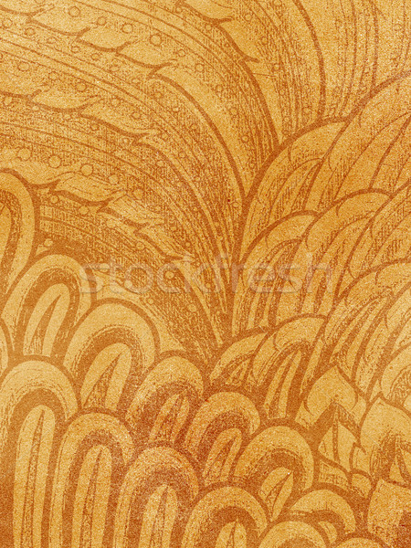 Abstract bird feather drawing on grunge paper Stock photo © jakgree_inkliang