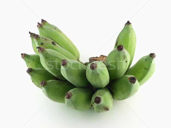 Friss megművelt banán nyers gyümölcs zöld Stock fotó © jakgree_inkliang