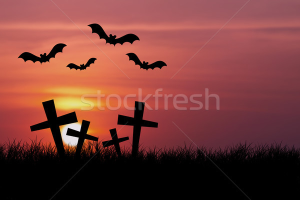 Halloween night with sunset Stock photo © jakgree_inkliang