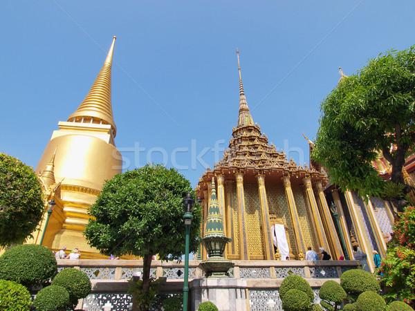 Palazzo Bangkok Thailandia erba costruzione estate Foto d'archivio © jakgree_inkliang