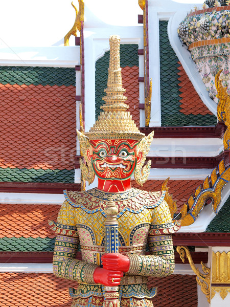 Thai démon palais Bangkok Thaïlande Voyage Photo stock © jakgree_inkliang