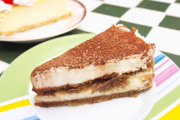 Parça çikolata cheesecake süt Stok fotoğraf © jakgree_inkliang