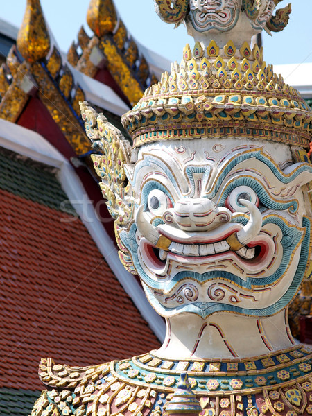 Thai Demon in Grand Palace , Bangkok Thailand Stock photo © jakgree_inkliang