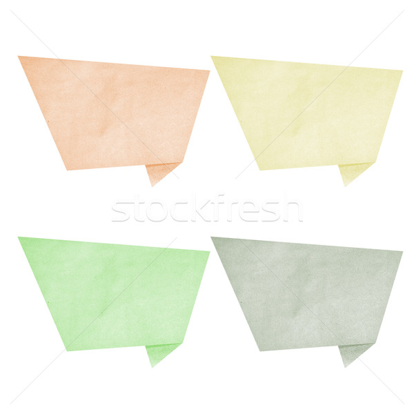 Paper texture ,bubble talk tag on white background Stock photo © jakgree_inkliang