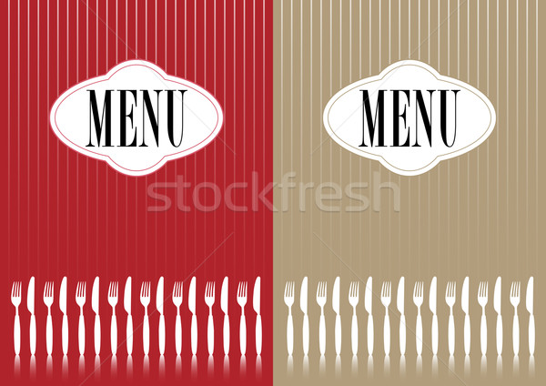 Menu Card Stock photo © jamdesign