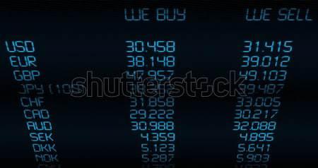 валюта обмена иностранная валюта синий отображения Сток-фото © jamdesign