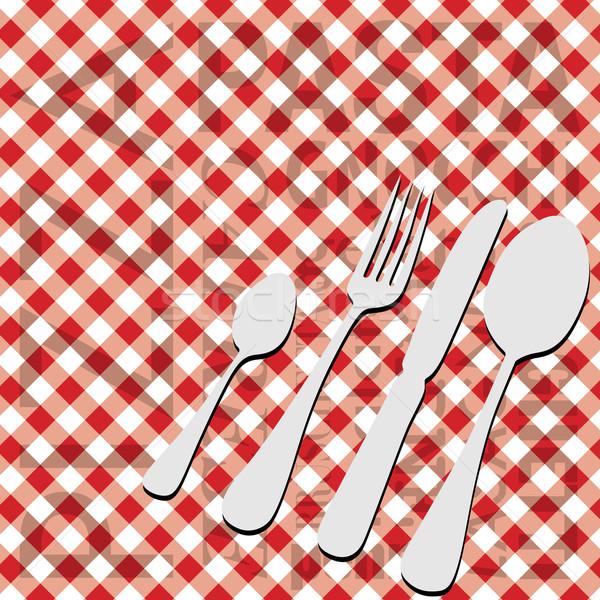 Cucina italiana menu carta rosso abstract sfondo Foto d'archivio © jamdesign