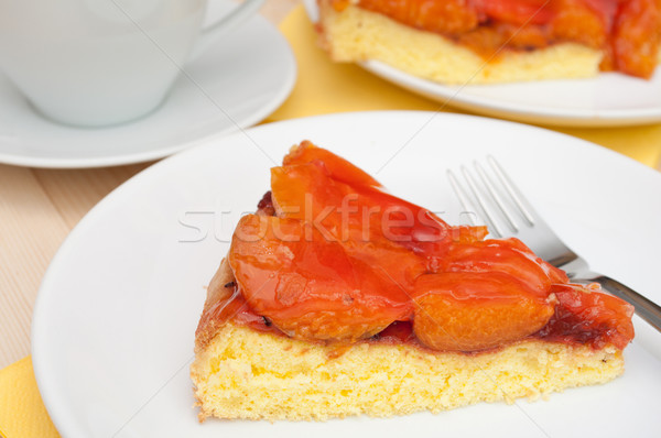 Cake With Apricots Stock photo © jamdesign