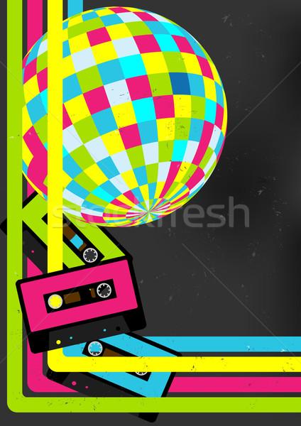 Retro festa Áudio cassete discoball 80 Foto stock © jamdesign