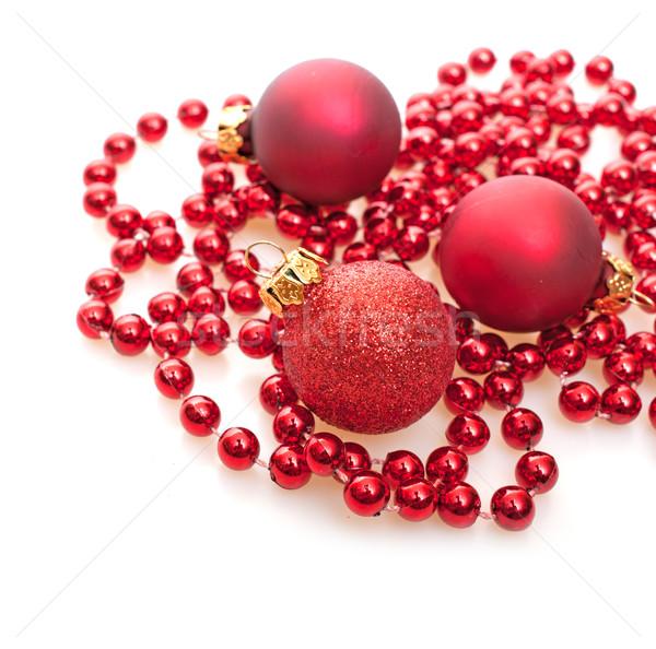 Weihnachten rot weiß seicht Urlaub Bereich Stock foto © jamdesign