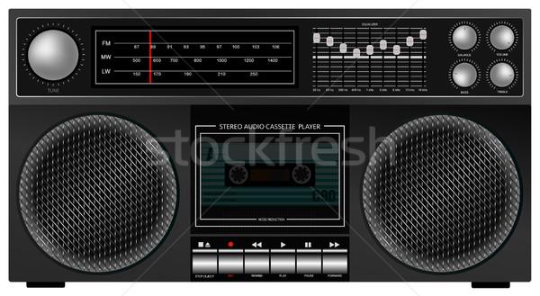 Retro stereo speler illustratie draagbaar audio Stockfoto © jamdesign