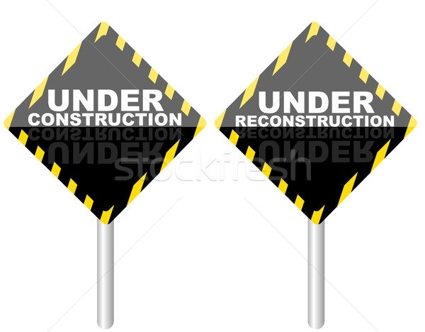 Under Reconstruction Sign Stock photo © jamdesign