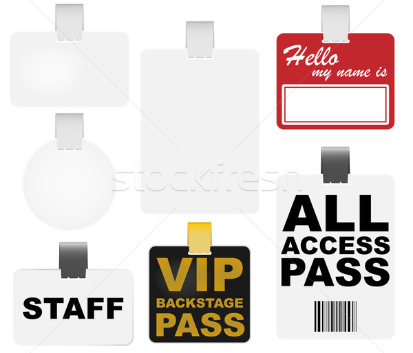 Badges ensemble vip papier Photo stock © jamdesign