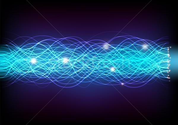 Izzó absztrakt optikai sötét kék fény Stock fotó © jamdesign