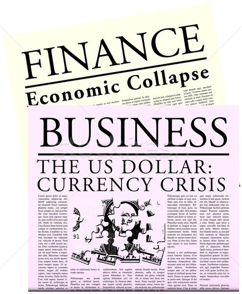 Zuinig krant geïsoleerd kranten financiële crisis business Stockfoto © jamdesign