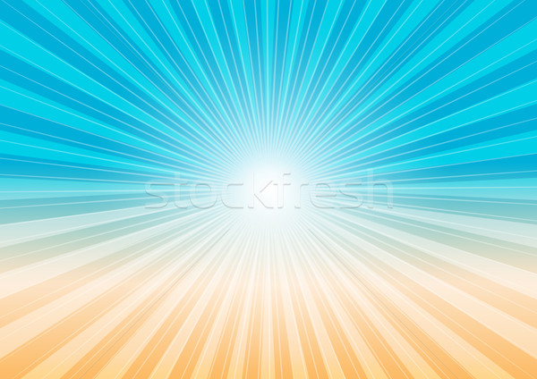 Abstract Background - Sun Rays and Beach Stock photo © jamdesign