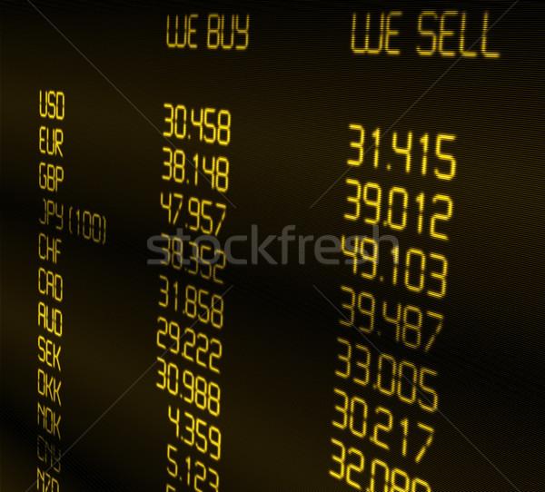 валюта обмена иностранная валюта отображения фон Сток-фото © jamdesign
