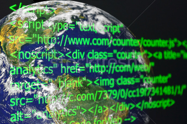 Web Code Earth in Background  Stock photo © jamdesign