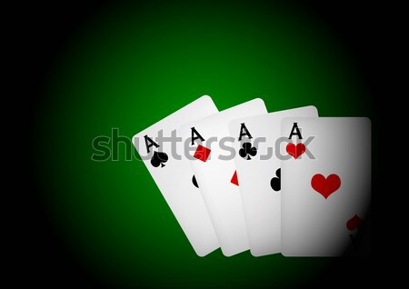 Cards on Table - Four Aces Stock photo © jamdesign