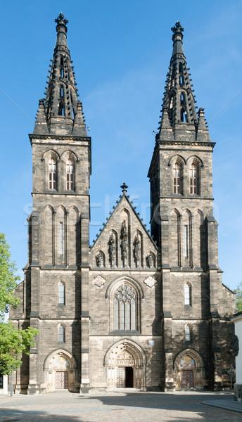 Prag Çek Cumhuriyeti kilise aziz kale Stok fotoğraf © jamdesign