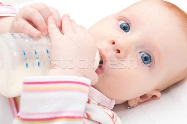 Eating Baby Girl Stock photo © jamdesign