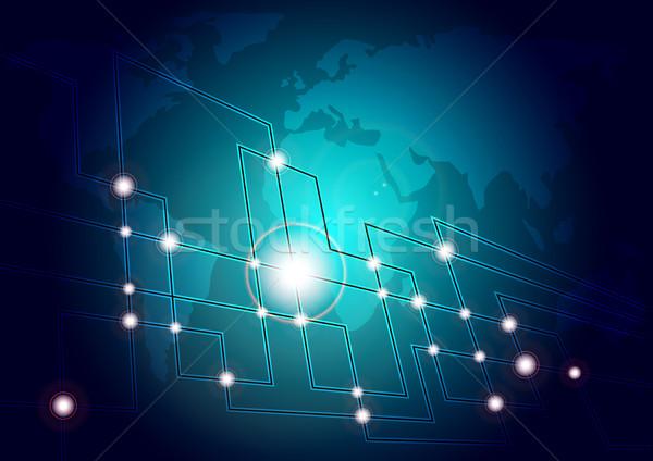 Background - Fibers and World Map Stock photo © jamdesign
