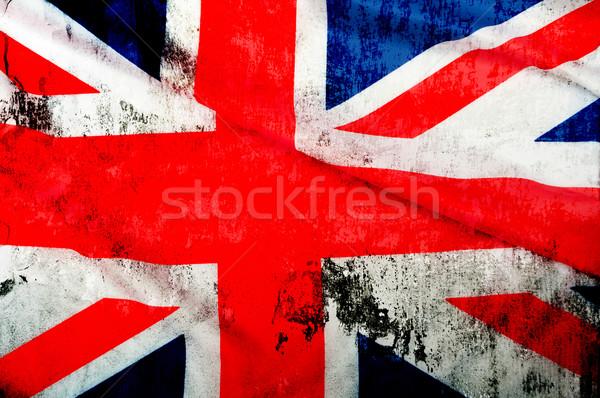 Groot-brittannië vlag textuur achtergrond Stockfoto © jamdesign